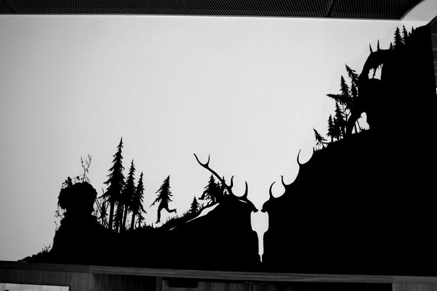 Silhouette, Schattenriss, Vogtlandhalle, Henrik Schrat