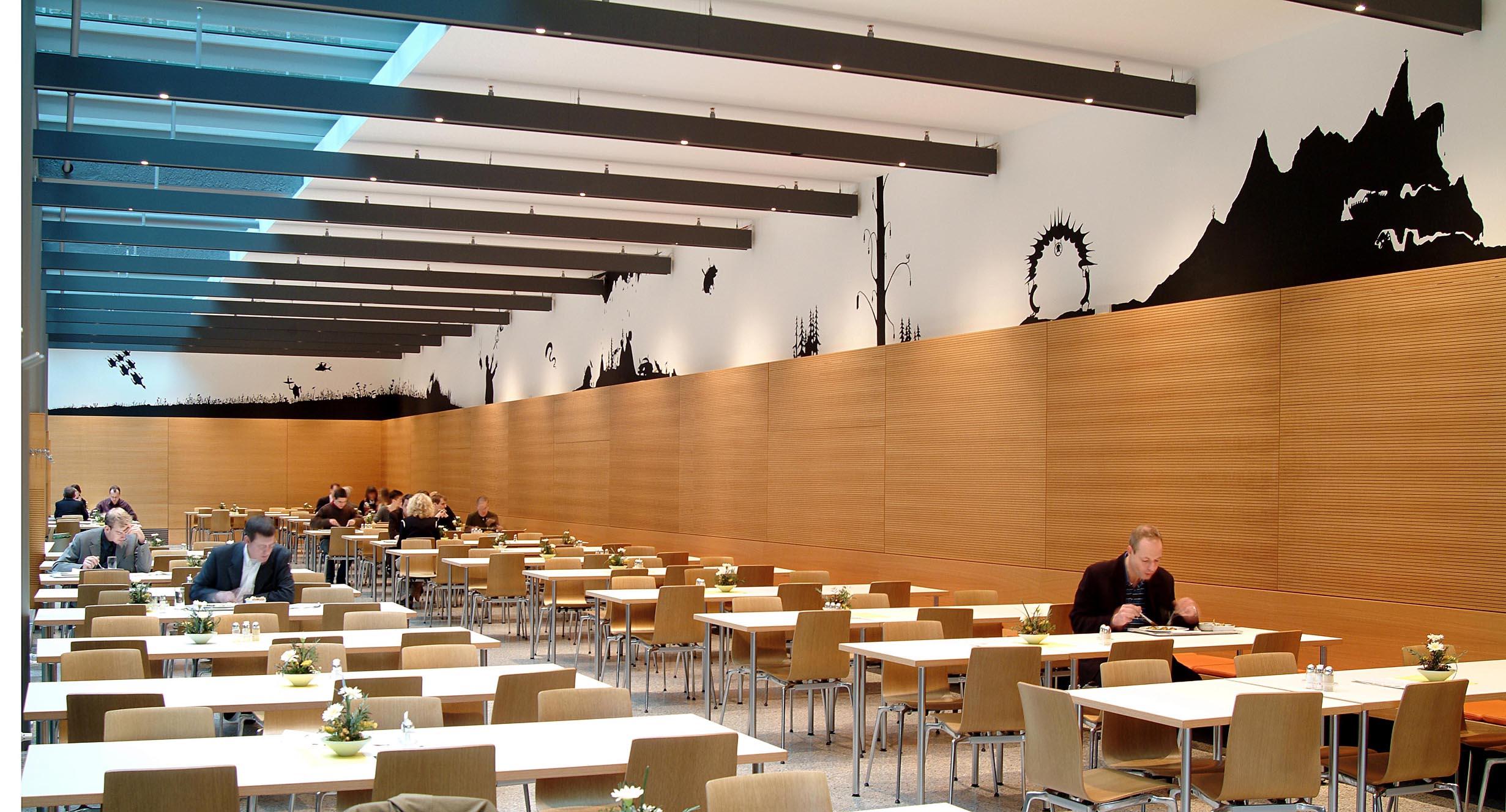 Jakob Kaiser Haus, Bundestag, Casino, Wandbild Henrik Schrat