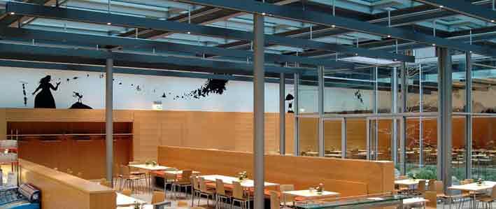 Jakob Kaiser Haus, Bundestag, Casino, Wandbild Henrik Schrat, Schlaraffenland