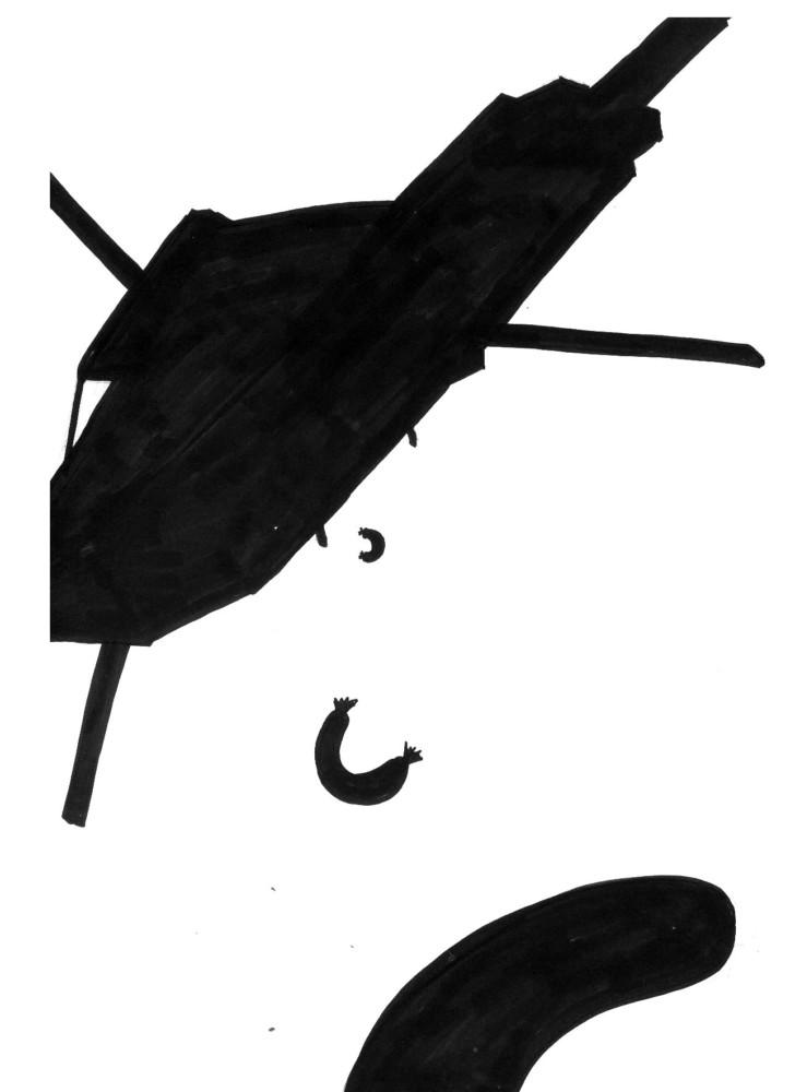 Zeichnunmg, Silhouette, Schattenriss, Henrik Schrat