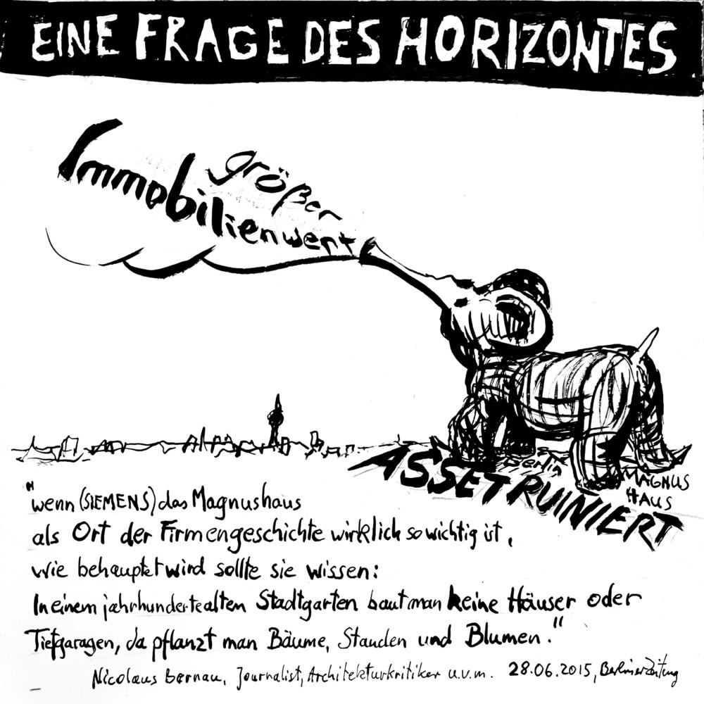 Immobilienwert, Magnushaus, Berlin, Denkmal, Recherche, Comic