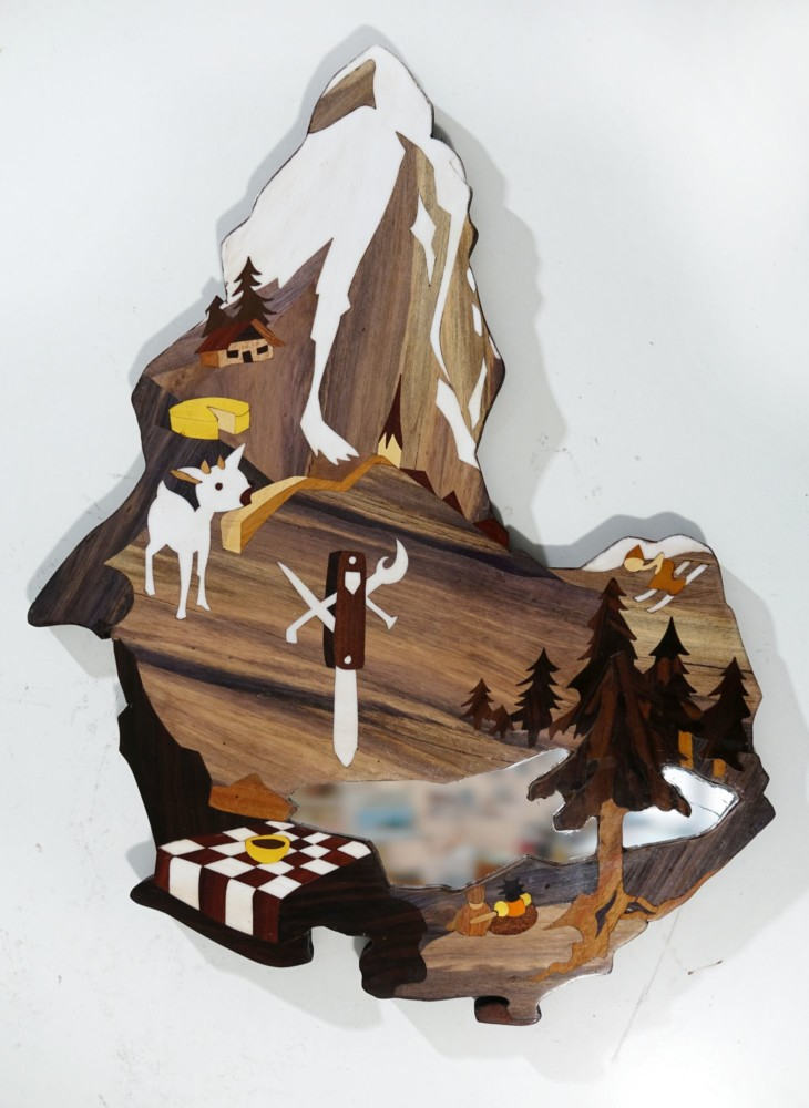 Intarsie, Wood Inlay, Art, Spiegel, Mirror