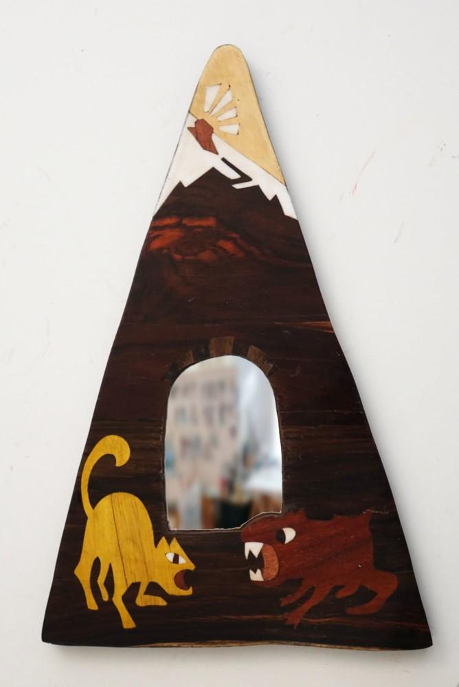 Intarsie, Wood Inlay, Art, Spiegel, Mirror, Shangila, Palestine