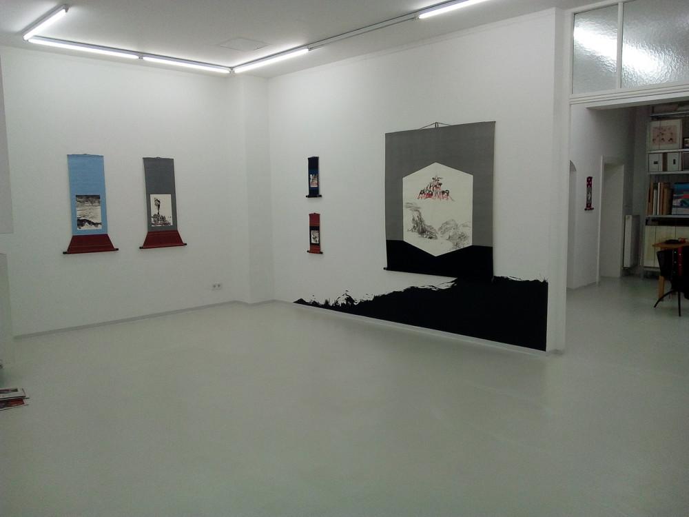 Bildrollen, Hanging Scrolls, Galerie Karin Sachs, München