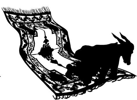 Esel auf fliegendem Teppich