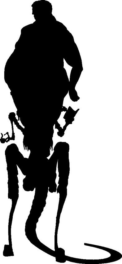 Zentaur Alien Schattenriss. Silhouette, Sperrholz